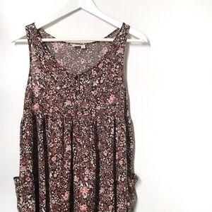 Urban Renewal Floral Maxi Babydoll Dress. Sz S